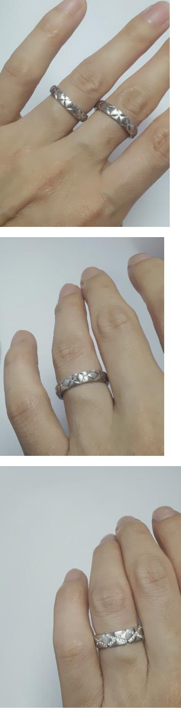 정미양님 엔조커플링 결혼반지 사진